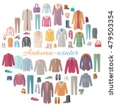 set of autumn winter clothes.... | Shutterstock .eps vector #479503354