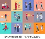 labor day different professions.... | Shutterstock .eps vector #479503393