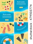 summertime and beach vacation... | Shutterstock .eps vector #479503774