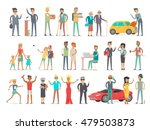 collection of characters of... | Shutterstock .eps vector #479503873