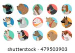 set of dog round icons. dog... | Shutterstock .eps vector #479503903