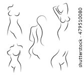 nude woman silhouettes for... | Shutterstock .eps vector #479510080