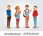 vector students with backpacks... | Shutterstock .eps vector #479513410
