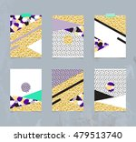 set of abstract geometric... | Shutterstock .eps vector #479513740