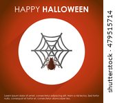 halloween web spider and net.... | Shutterstock .eps vector #479515714