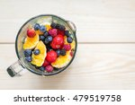mixed berries with orange in a... | Shutterstock . vector #479519758