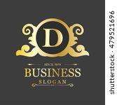 d business slogan. classic art... | Shutterstock .eps vector #479521696