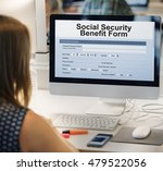 social security benefit form... | Shutterstock . vector #479522056