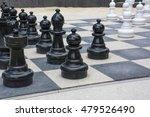 black and white street chessmen ... | Shutterstock . vector #479526490