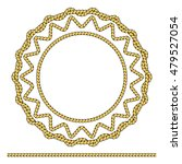 round frame made of rope... | Shutterstock .eps vector #479527054