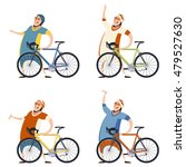 image of a set  of ciclists | Shutterstock . vector #479527630