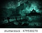 old bridge to the wooden house... | Shutterstock . vector #479530270
