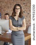 portrait of woman in her office | Shutterstock . vector #479531530