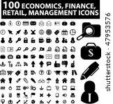 100 economics  finance  retail  ... | Shutterstock .eps vector #47953576