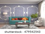 interior with sofa. 3d... | Shutterstock . vector #479542543