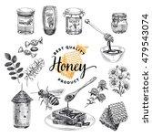 honey vector set. beekeeping... | Shutterstock .eps vector #479543074