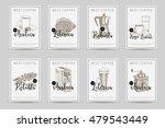 coffee vector poster set.... | Shutterstock .eps vector #479543449