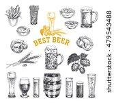 octoberfest vector set. beer... | Shutterstock .eps vector #479543488