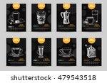 coffee vector poster set.... | Shutterstock .eps vector #479543518