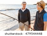 senior man fishing with his... | Shutterstock . vector #479544448