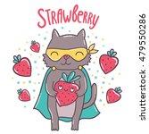 cute cartoon superhero cat with ... | Shutterstock .eps vector #479550286