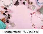 flat lay of women cosmetics and ... | Shutterstock . vector #479551543