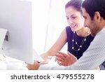 business people in modern office | Shutterstock . vector #479555278