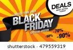 black friday sale banner | Shutterstock .eps vector #479559319