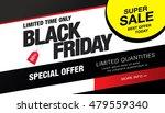 black friday sale banner | Shutterstock .eps vector #479559340