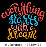 quote everything starts with a... | Shutterstock . vector #479559439