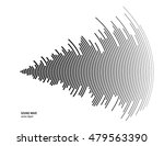 illustration for sound wave.... | Shutterstock .eps vector #479563390