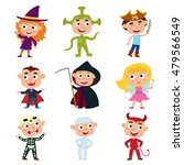 vector set of children in... | Shutterstock .eps vector #479566549