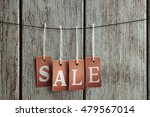sale labels hanging on wooden... | Shutterstock . vector #479567014