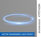 vector blue light trail circle. ... | Shutterstock .eps vector #479576284