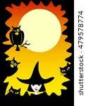 halloween border with cats ... | Shutterstock .eps vector #479578774