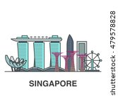 singapore city flat...   Shutterstock .eps vector #479578828