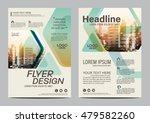green brochure layout design... | Shutterstock .eps vector #479582260