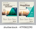 green brochure layout design... | Shutterstock .eps vector #479582290