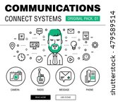 communication connect social... | Shutterstock .eps vector #479589514
