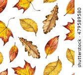 seamless watercolor autumn...   Shutterstock . vector #479589580