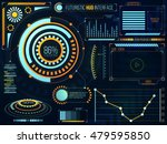 futuristic head up display... | Shutterstock .eps vector #479595850