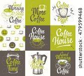 set of coffee sketch with... | Shutterstock .eps vector #479599468