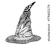 hand drawn witch magic hat in... | Shutterstock .eps vector #479602174