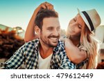 Stock photo smiling couple in love outdoors 479612449