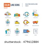 color line icons collection.... | Shutterstock .eps vector #479612884