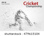 cricket player silhouette ... | Shutterstock .eps vector #479615104