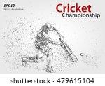 cricket player silhouette ... | Shutterstock .eps vector #479615104