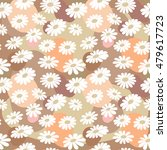 hand drawn pretty daisies... | Shutterstock .eps vector #479617723