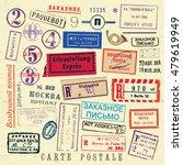 vector document stamp set.... | Shutterstock .eps vector #479619949