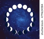 vector. moon. the phases of the ... | Shutterstock .eps vector #479624584